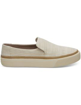 Natural Slubby Cotton Women's Sunset Slip Ons by Toms