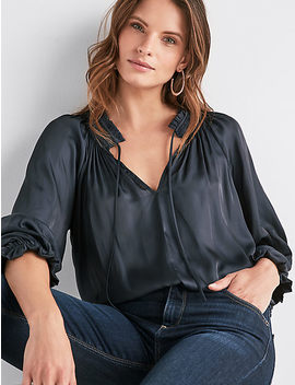 Satin Long Sleeve Top by Lucky Brand