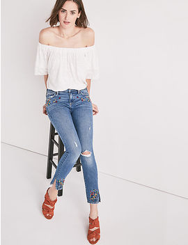 Ava Mid Rise Skinny Jean With Embroidery by Lucky Brand