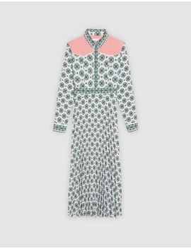 Robe Longue Imprimée All Over by Sandro Paris