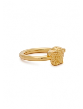 Gold Tone Medusa Ring by Versace