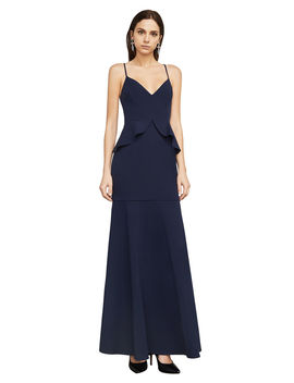 Sleeveless Ruffled Peplum Gown by Bcbgmaxazria