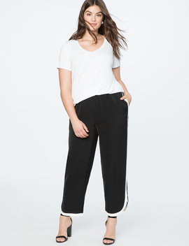 Contrast Side Stripe Jogger by Eloquii