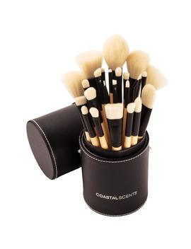 Elite 24 Piece Makeup Brush Set With Cup by Coastal Scents
