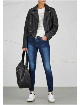Hoxton Dark Blue Transcend Skinny Jeans by Paige