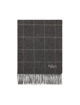Windowpane Check Scarf by Mulberry