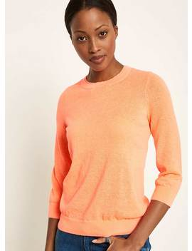 Neon Orange Simple Crew Knit by Mint Velvet