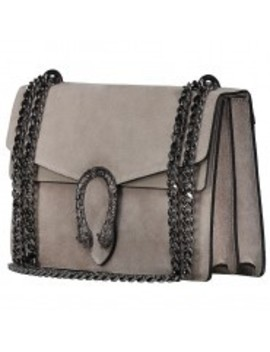 Tiger Bag Suede Taupe by Fashion Drug