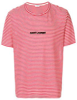striped-logo-t-shirt by saint-laurent