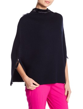 Doetry Knit Poncho by Elie Tahari