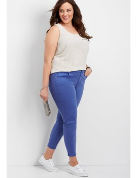 Plus Size Denim Flex™ Flag Blue Cropped Jegging by Maurices