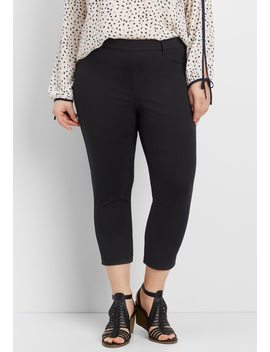 Plus Size Pull On Legging Crop Pant by Maurices