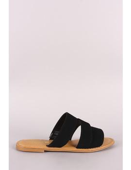 Sunny Feet Nubuck Strappy Slide Sandal by Urbanog
