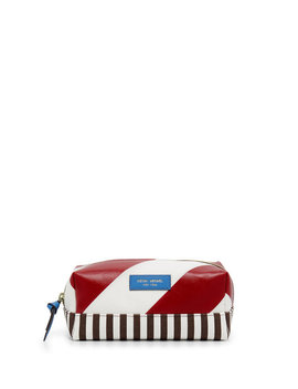 Striped Canvas Small Cosmetic Case by Henri Bendel