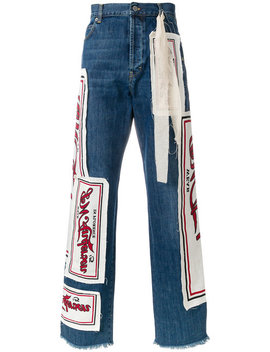 patchwork-logo-jeans by jw-anderson