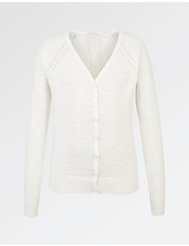 Pointelle Cardigan by Fat Face