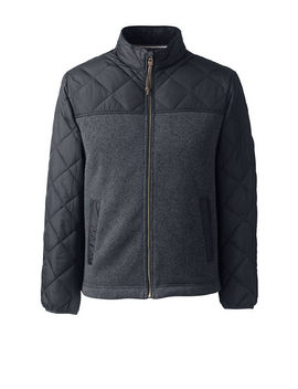 Men's Quilted Hybrid Jacket by Lands' End