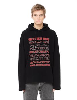 Men's Weltschmerz Cotton Hoodie by Vetements