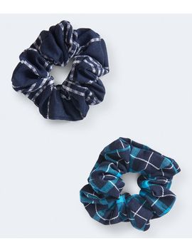 Plaid Scrunchie 2 Pack by Aeropostale
