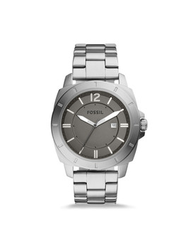 Privateer Sport Three Hand Date Stainless Steel Watch by Fossil