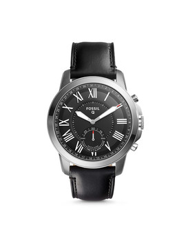 Refurbished Hybrid Smartwatch   Q Grant Black Leather by Fossil