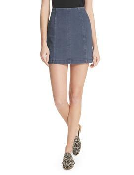 modern-femme-denim-miniskirt by free-people