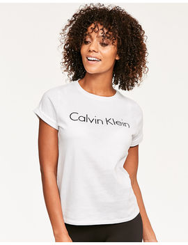 Cotton Coordinating Top S/S Crew Neck by Calvin Klein
