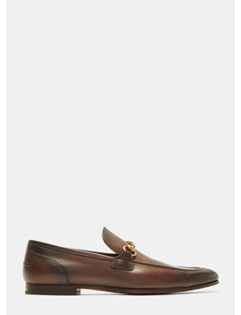 Jordaan Leather Loafers In Brown by Gucci