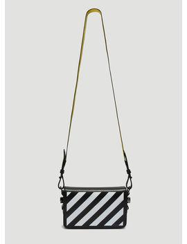 Diagonal Stripe Mini Flap Bag In Black by Off White