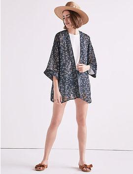 Print With Stitch Kimono by Lucky Brand