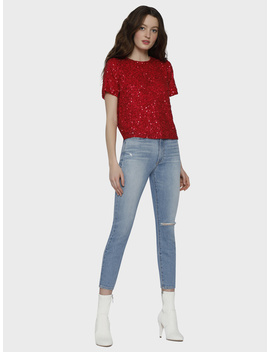 Piera Embellished Slouchy Tee by Alice And Olivia