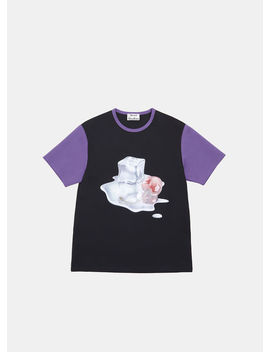 Ice Cube Cherry T Shirt In Black by Acne Studios