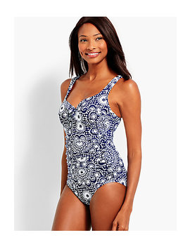 Dot Tile Marina One Piece Swim Suit by Talbots