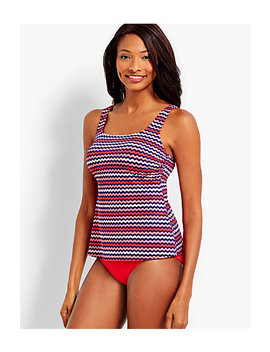 Zig Zag Stripe Palmetto Tankini Top by Talbots