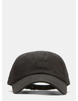 Joy Division Flap Attachment Cap In Black by Raf Simons