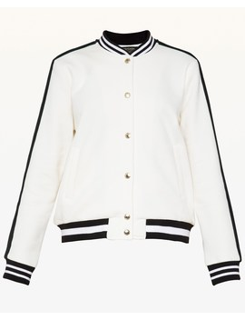 Luxe Crest Patch Bomber Jacket by Juicy Couture
