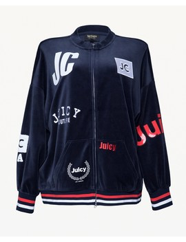 Mixed Logo Velour Jacket by Juicy Couture