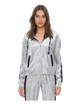 Metallic Velour Side Stripe Jacket by Juicy Couture