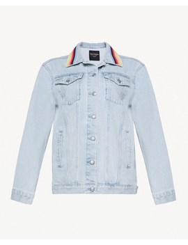 Embroidered Stripe Denim Jacket by Juicy Couture