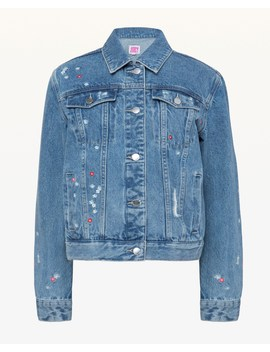 Jxjc Floral Embroidered Denim Jacket by Juicy Couture
