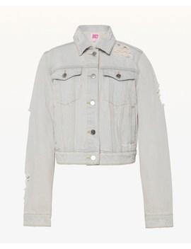 Jxjc Pink Pigment Distressed Denim Jacket by Juicy Couture
