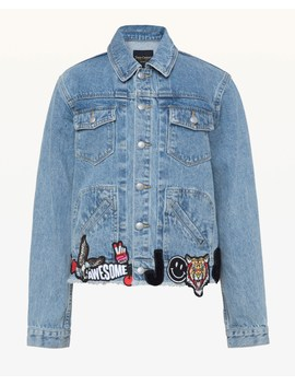 Denim Jacket With All Over Patches by Juicy Couture