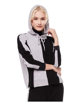 Cashmere Colorblocked Hooded Pullover by Juicy Couture