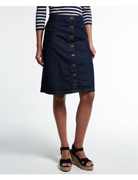 Button Down Midi Skirt by Superdry