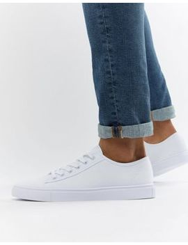 asos-design-sneakers-in-white-canvas by asos-design