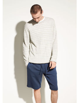 Striped Linen Crew by Vince