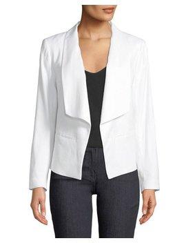 Linen Open Front Blazer Jacket by Laundry By Shelli Segal