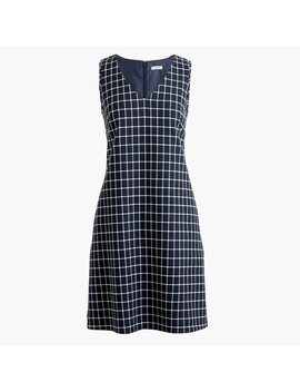 Printed V Neck Shift Dress by J.Crew