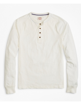 Slub Cotton Jersey Henley by Brooks Brothers