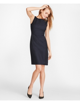 Foulard Wool Twill Sheath Dress by Brooks Brothers